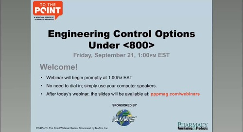 [Webinar] Engineering Control Options Under USP <800>
