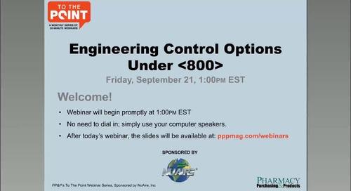 [Webinar] Engineering Control Options Under USP <800>