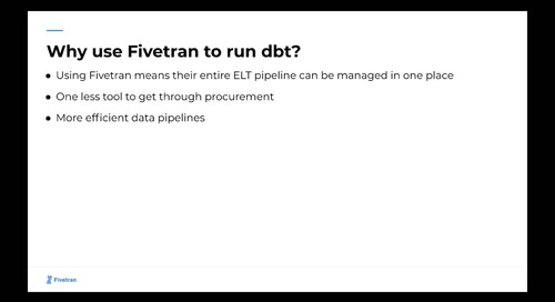 Partner Technical Enablement - Fivetran + dbt 5/13