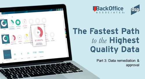 Fastest Path to High Quality Data with BackOffice Associates (3 of 3)