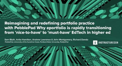 Reimagining and Redifining portfolio practice with PebblePad