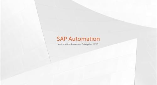 Enterprise 11.x Features - SAP Automation
