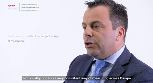 Toyota Material Handling Europe Talks About Their Sustainability Commitments