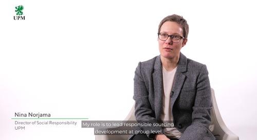 UPM habla de sus ambiciones en compras sostenibles