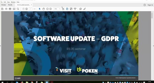 Visit by GES Webinar regarding updates to the Visit Software for GDPR