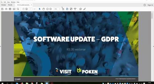 Visit by GES Webinar regarding updates to the Visit Software for GDPR