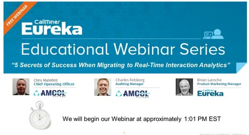 5 Secrets of Success When Migrating to Real-Time Interaction Analytics
