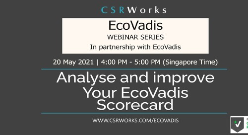 [CSRWorks] How to Analyse and Improve Your EcoVadis Scorecard