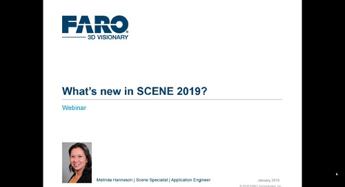 SCENE 2019 for advanced 3D reality capture (webinar)