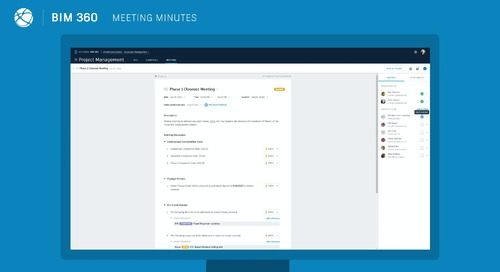BIM 360 Meetings - Capturing Meeting Minutes