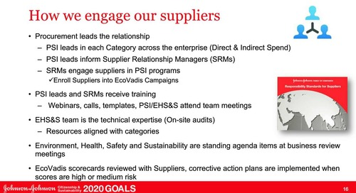 Johnson & Johnson: Driving Supplier Performance in CSR to Reduce Risk and Boost Innovation