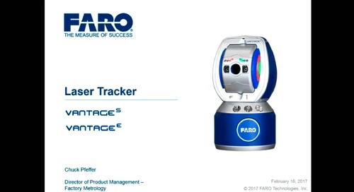 Vantage S & E Laser Tracker overview, featuring RemoteControls