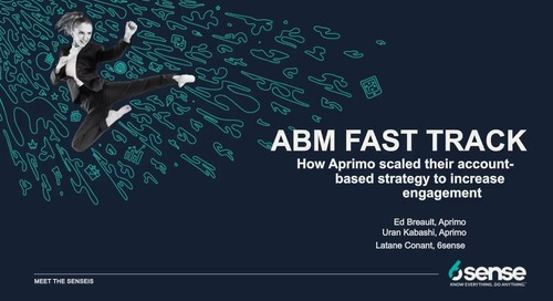 Meet the Sensei's | ABM Fast Track with Ed Breault & Uran Kabashi of Aprimo