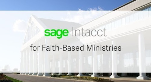 Sage Intacct for Faith-based Ministries Demo