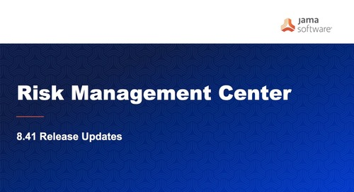 8.41 Release Update - Risk Management Center