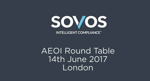 Video: Sovos AEOI Roundtable - London, June 2017
