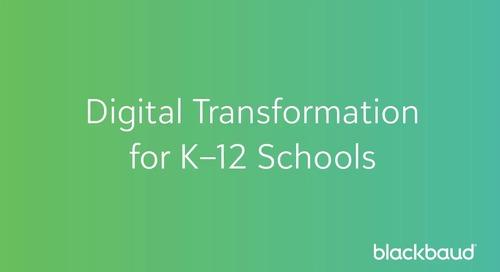 Digital Transformation for K–12 Schools - John Linton