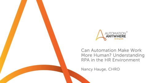 Can Automation Make Work More Human Understanding RPA in the HR Environment