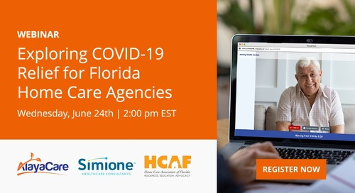 Exploring COVID-19 relief for Florida home care agencies