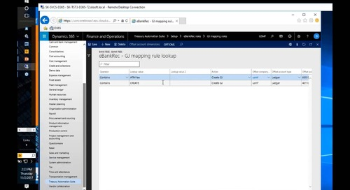 Banking and Treasury Automation for Microsoft Dynamics AX - D365