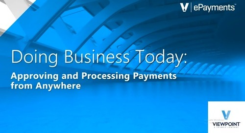 ProContractor: Doing Business Today - Approving and Processing Payments from Anywhere