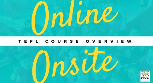 Online & Onsite TEFL Course Overview