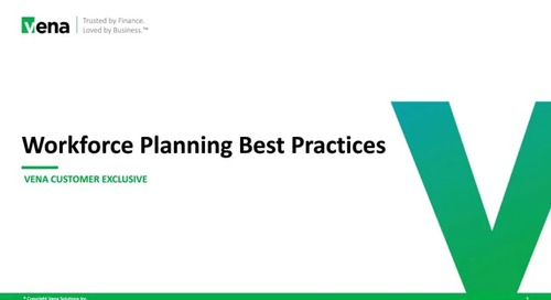 Vena Workforce Planning Best Practices