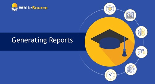 WhiteSource Academy - Generating Reports
