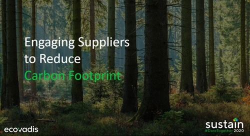 Engaging Suppliers to Reduce Carbon Footprint, Sustain 2020