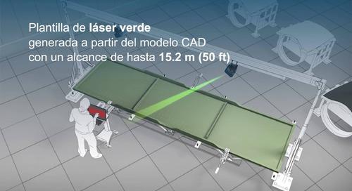 Verificación visual con tecnología de proyección láser