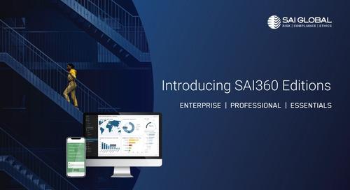Introducing SAI360 Platform Editions for Agile Risk Management Deployments