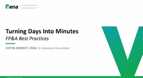 Turning Days Into Minutes - FP&A Best Practices