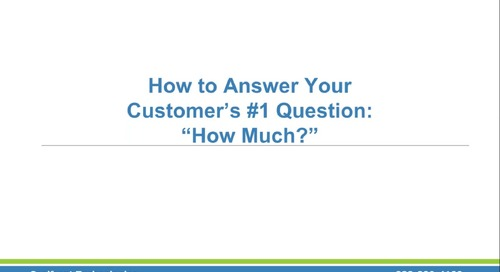 How to Answer the Customer's No. 1 Question Webinar