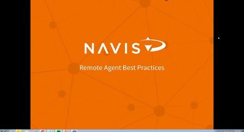 NAVIS Performance Webinar Series: Remote Agent Best Practices