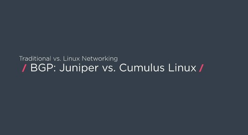 How to configure BGP with Juniper and Cumulus Linux