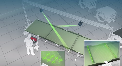 Visual verification with laser projection technology
