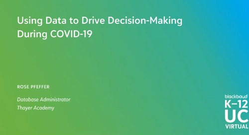 Using Data to Drive Decision Making During Covid-19