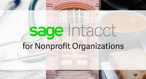 Sage Intacct for Nonprofits Overview