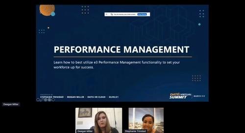 e3 Training: Performance Management