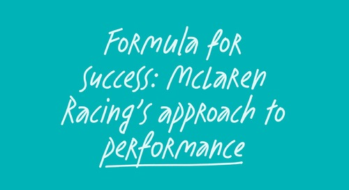 A Formula For Success, the culture first approach to performance used by McLaren Racing
