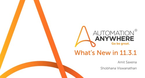 What's New in Automation Anywhere Enterprise 11.3.1?