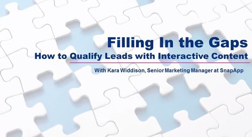 Filling In the Gaps: How to Qualify Leads with Interactive Content