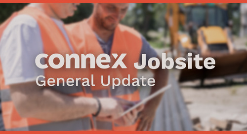 CONNEX Jobsite Update