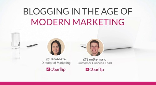 Webinar: Blogging In The Age Of Modern Marketing
