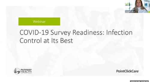Webinar: COVID-19 Survey Readiness - Infection Control at Its Best