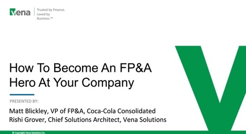 How To Be An FP&A Hero with Coke Consolidated