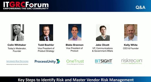 Webinar Replay: Key Steps to Identify Risk and Master Vendor Risk Management