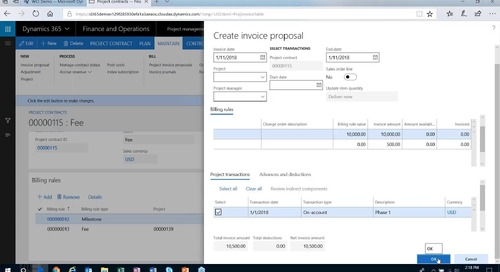 How to Create Project Contracts in Microsoft D365 for Finance and Operations