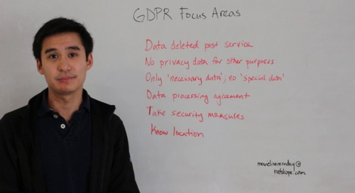Movie Line Monday - GDPR Focus Areas Overview: Data Deleted Post Service