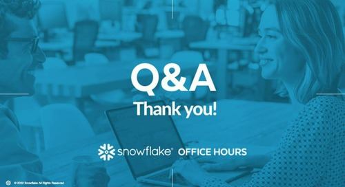 Snowflake Office Hours - Indigo AG